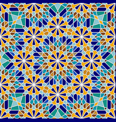 multicolor traditional arabic seamless pattern vector image