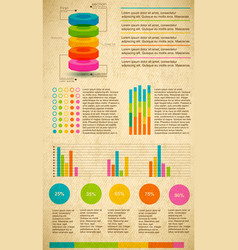 multicolored infographic set vector image
