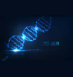 Nenon dna helix consist of glowing particles vector