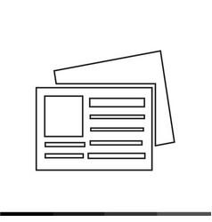 news icon design vector image