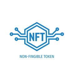 Nft icon non-fingible token concept logo design vector