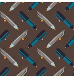 Pen set seamless pattern vector image