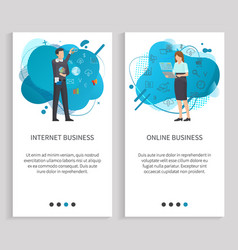 people communication business online web vector image