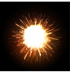 Powerful Explosion vector image vector image