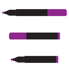 Purple marker set vector image