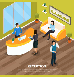 reception office isometric vector image