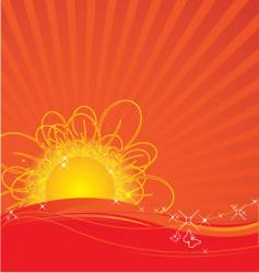 rising sun vector image vector image