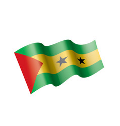 sao tome and principe flag on vector image