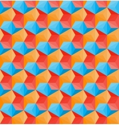 Seamless Hexagonal Shape Pattern In Red vector