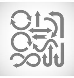 Set arrow icons vector