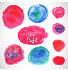 set watercolor blobs circle design elements vector image