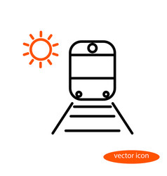 Simple image of a train on rails with vector