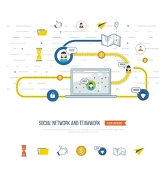Social network and teamwork concept Management vector image