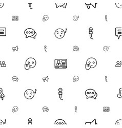 speech icons pattern seamless white background vector image