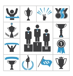 Sports award icons vector