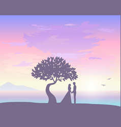 sunset love vector image