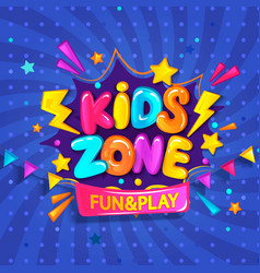 super banner for kids zone vector image