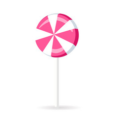 swirl spiral lollipop candy isolated sweet vector image