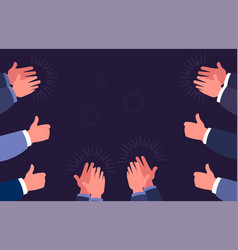 Thumbs up and clap hands hand clapping gestures vector