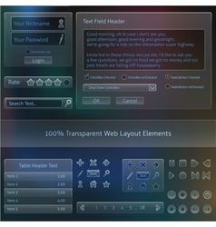 Transparent Web design Fields templates vector image