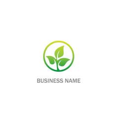 Tree green leaf organic logo vector