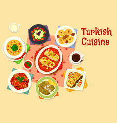 turkish cuisine tasty lunch icon design vector image