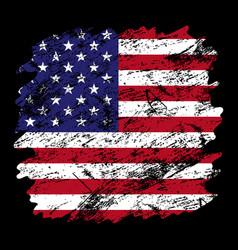 usa flag grunge brush background old brush flag vector image