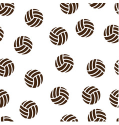 volleyball pattern seamless isolated vector image