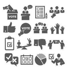vote icons set on white background vector image