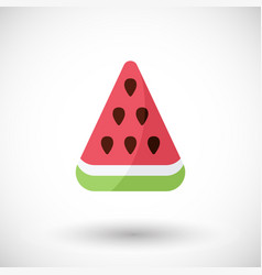 watermelon flat icon with round shadow vector image