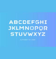 white paper style alphabet scotch tape segment vector image
