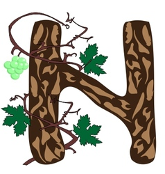 Wood N vector image