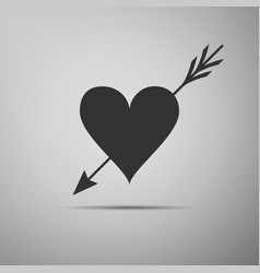 amour with heart and arrow valentines symbol vector image vector image
