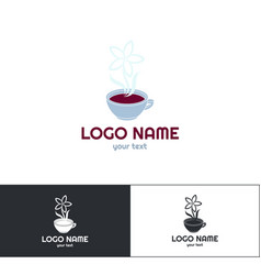 many flowers logo three vector image