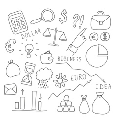 Set of business and finance elements vector image vector image