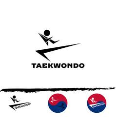 set taekwondo logo vector image