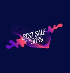 best banner sale the original poster discount vector image vector image