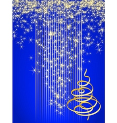 blue christmas card vector illustration vector image vector image