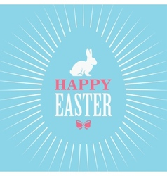 Happy Easter Blue Poster vector image