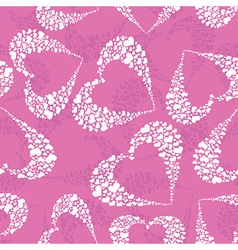 hearts background pattern vector image