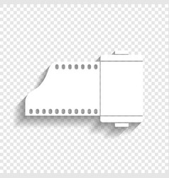 old photo camera casset sign white icon vector image