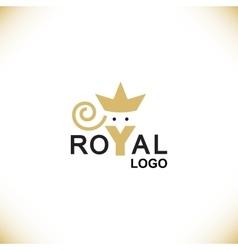 Royal logo symbol vector image