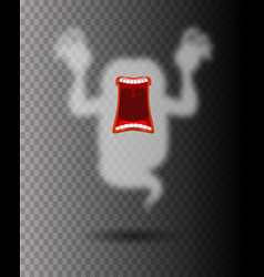 scary ghost phasing transparent monster with an vector image vector image