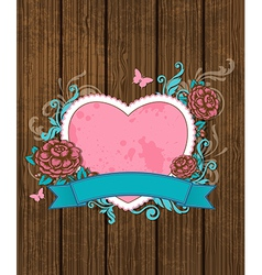 Vintage card for Valentines Day vector image vector image