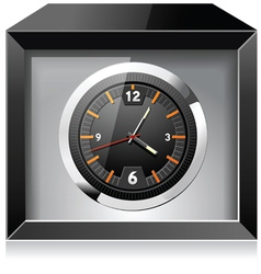 Clock in the Black box vector image