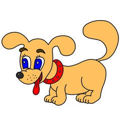 Little dog vector image vector image