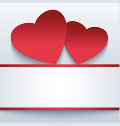 Love romantic background with red 3d hearts vector image vector image
