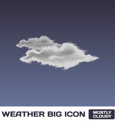 Mostly Cloudy Icon vector image vector image