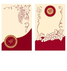 Wine labels with grapes vector image