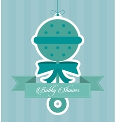 Baby Shower design maraca icon graphic vector image